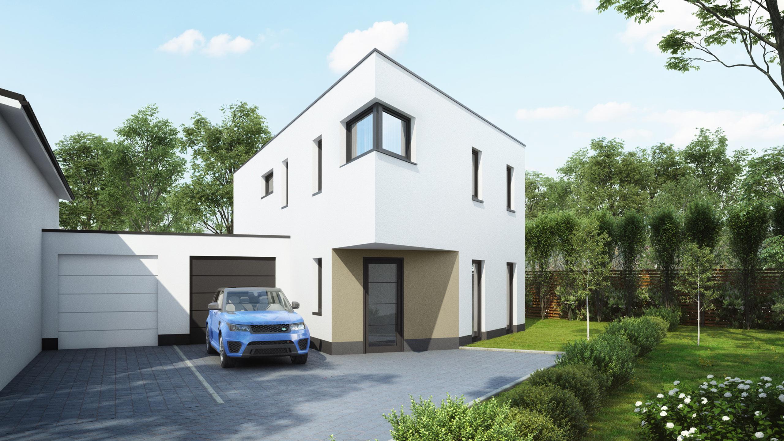 Das moderne, freistehende Einfamilienhaus